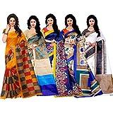 Trendz Combo Pack of Five Saree(TZ_Jolly_Mayurpnk_bulbul_Gori_Botnikal-5)