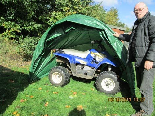 up and Over Folding Outdoor Cover - The Hidey Hood 180 Rob McAlister Ltd