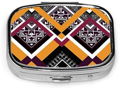 Caja de píldora de patrón étnico geométrico Estuche de medicina Bolsillo para portátil de viaje: Amazon.es: Salud y cuidado personal