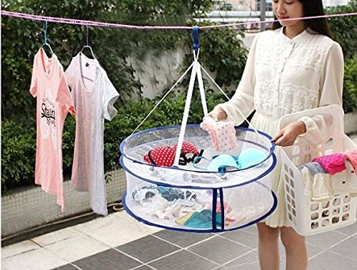 Ket Dryer Fabric Layer Mesh Cloth Closed Laundry Net Hanging Clothes Sweater Basket