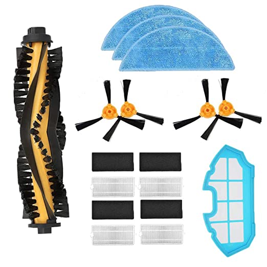 iAmoy Kit de filtro cepillo lateral Reemplazo,4*Filtro + 4*Cepillo ...