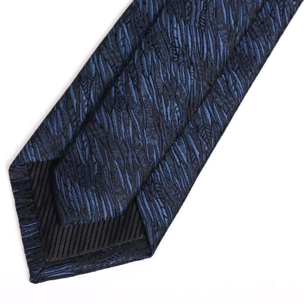 TIE Mens Narrow 7cm Dark Blue Texture Personality British Gift Box