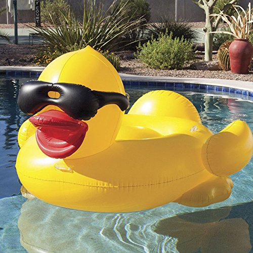 Game Derby Duck Inflatable Swimming Pool Float With Cup
