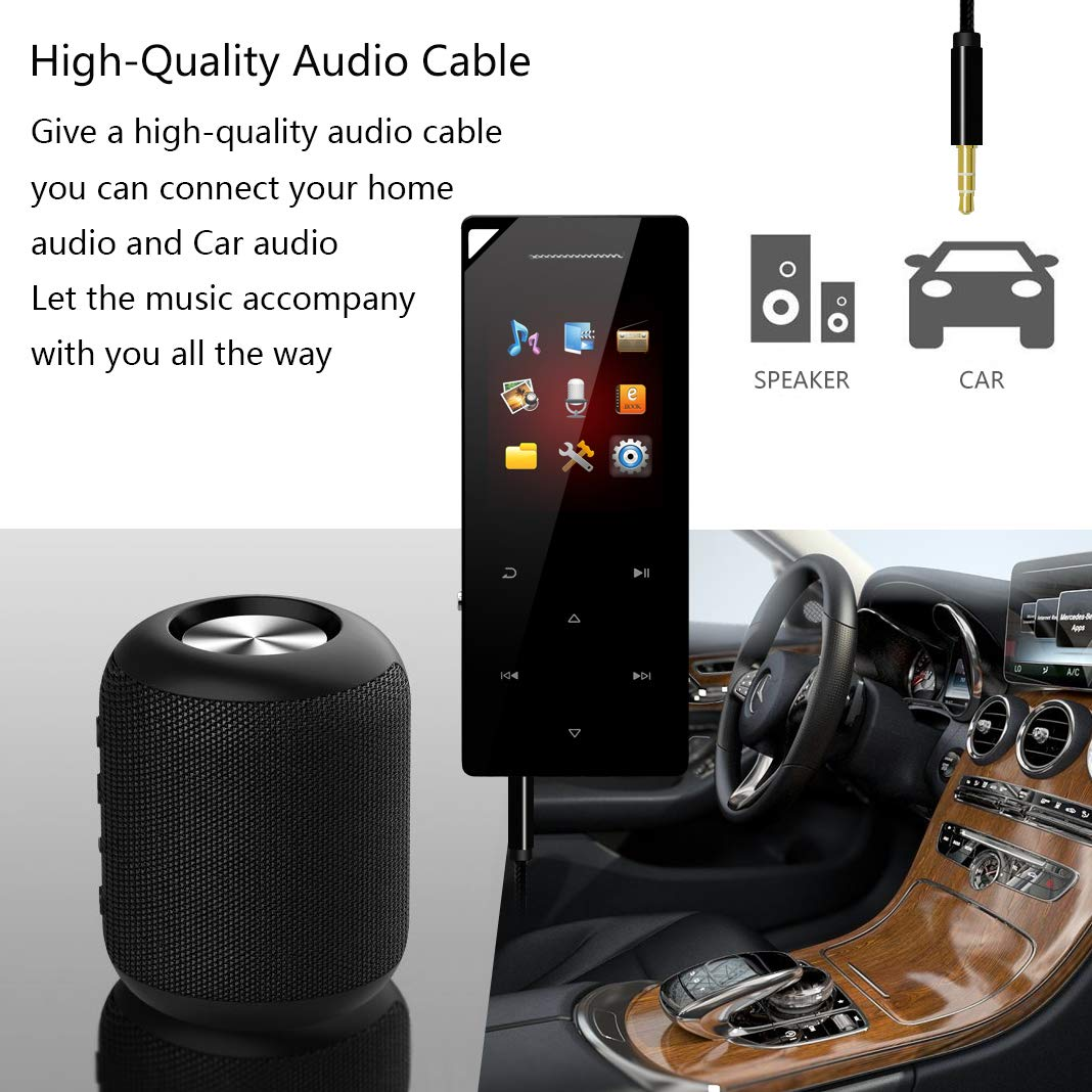 Hontaseng Mp3 Player Bluetooth 41 Music Hifi Automotive Wiring For Home Audio Speakers Sound Metal Material Touch Button Build In Speaker With Fm Radio And Voice Recorder