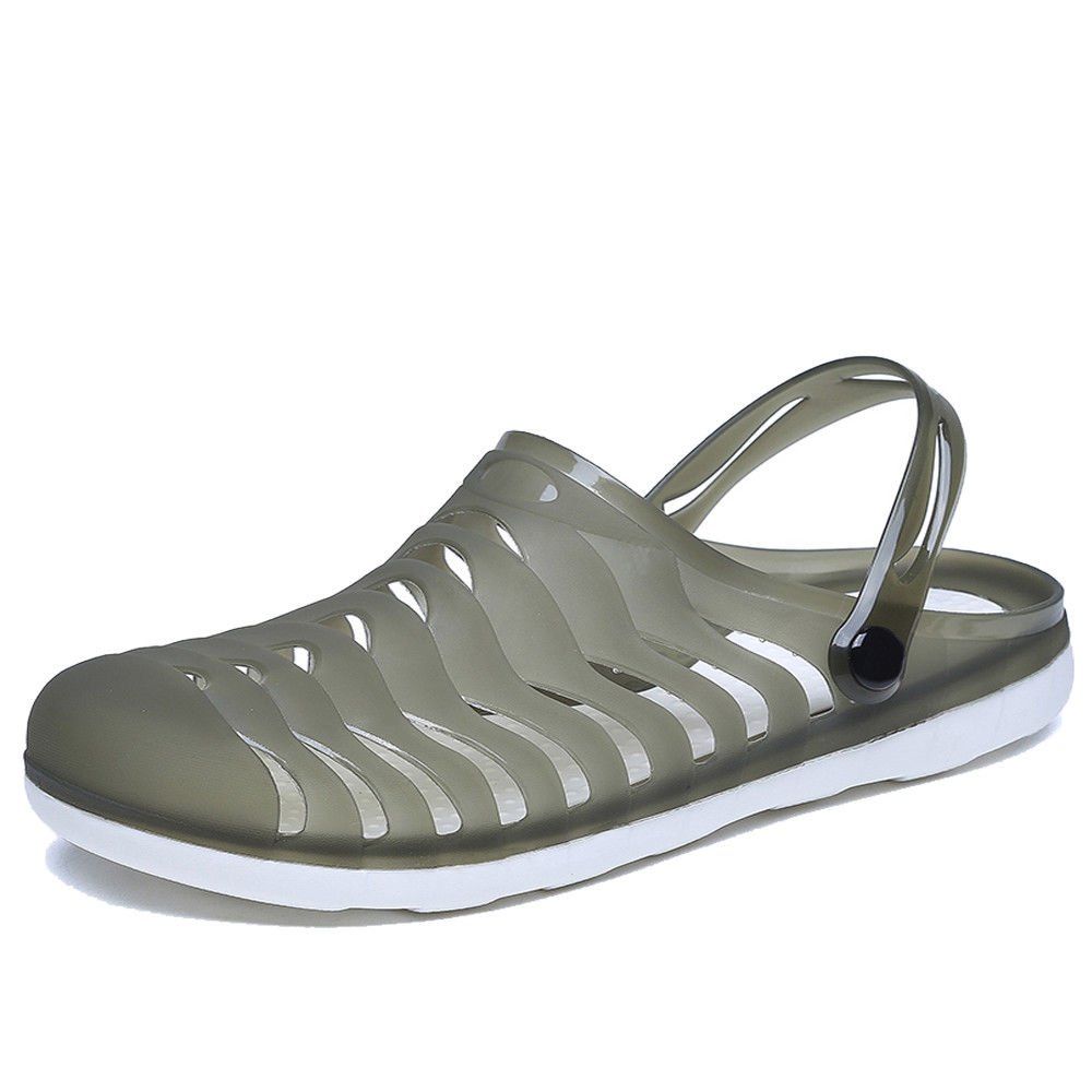 YIRUIYA Men and Women Garden Clogs Outdoor Walking Sandals Breathable Sport Slides Summer Non Slip Pool Beach Shower Slippers Shoes