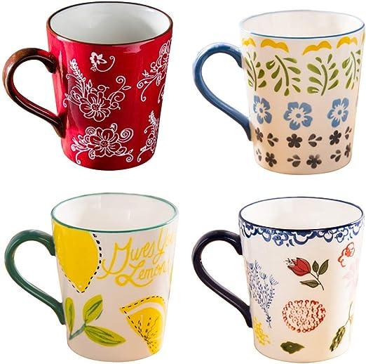 Tazas de cerámica estilo pastoral - Juego de tazas de porcelana ...