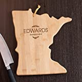 Personalized Family Name Minnesota State Cutting Board, 11.75'' W x 13.25''  L, Bamboo