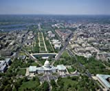 Photography Poster - Aerial view from above the U.S. Capitol looking west alo...