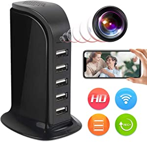 Spy Camera Wireless Hidden JLRKENG Full HD 4K USB Nanny Cam-Suitable for Home and Office Security Cameras-with Motion Detection-Support Android / iOS