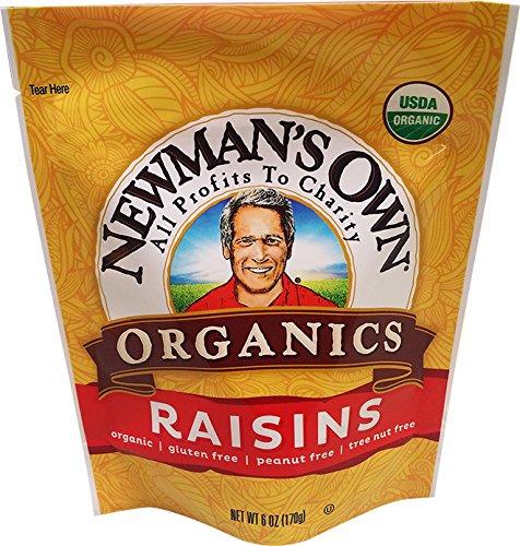 Newman's Own Organics California Raisins, 6-Ounce Pouches (Pack of 12)