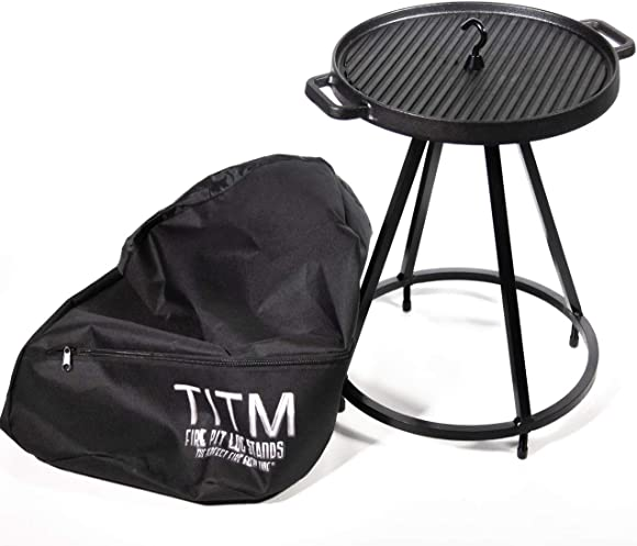 TITM Fire Pit Log Stand s 3-in-1 Value Pack