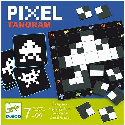 Djeco- Juegos de Acción Y Reflejos Educativos Pixel Tangram, (15): Amazon.es: Juguetes y juegos
