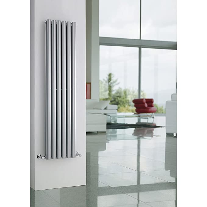 Hudson Reed Vertical Diseño Radiador en plata brillante Revive 1800 mm x 354 mm - 1751 W: Amazon.es: Hogar