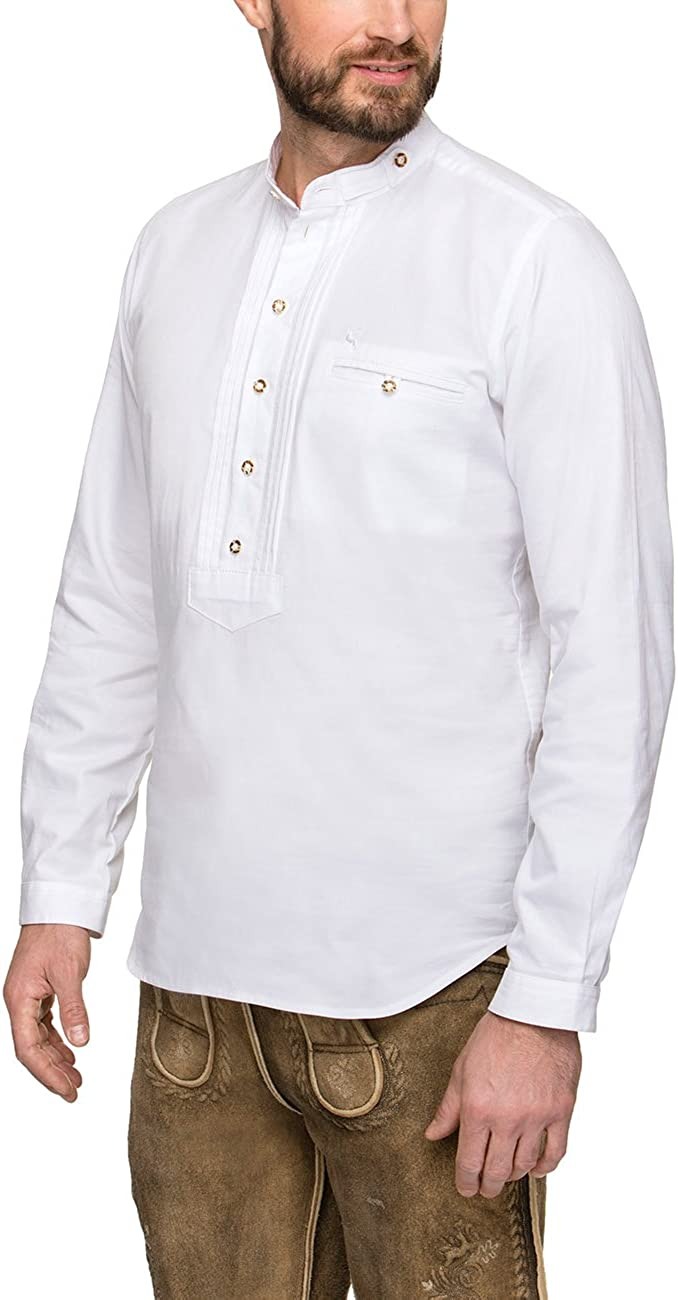 Stockerpoint German Traditional Shirt Renus2 White