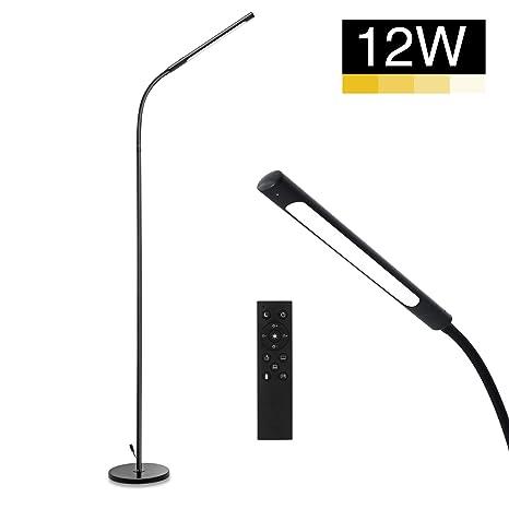Amazon.com: IMIGY - Lámpara de pie LED, cuello de cisne ...