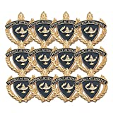 1 Inch Perfect Attendance Lapel Pin - Package of 12, Poly Bagged