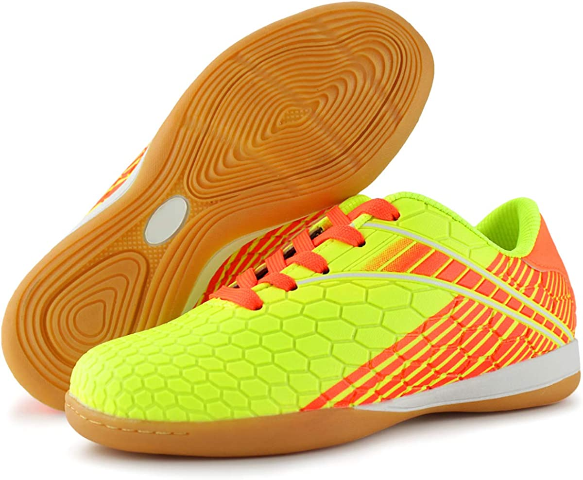 Toddler//Little Kid//Big Kid Hawkwell Kids Athletic Indoor Comfortable Soccer Shoes