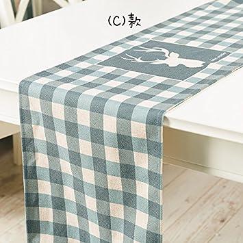 El Paño De Tabla Mueble Tv Mesa Mesa Cubierta De Tela Toallas Regalo,C,30 * 160Cm: Amazon.es: Hogar