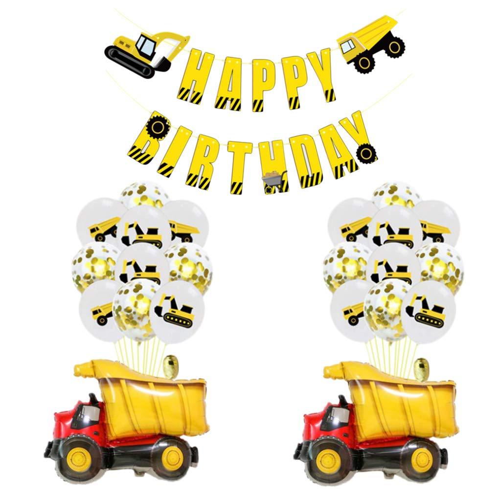 Globos de Látex Y Aluminio Pancarta de Feliz Cumpleaños ...