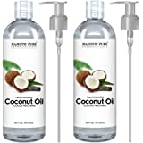 Majestic Pure Fractionated Coconut Oil - Relaxing Massage Oil, Liquid Carrier Oil for Diluting Essential Oils - Skin, Lip, Bo