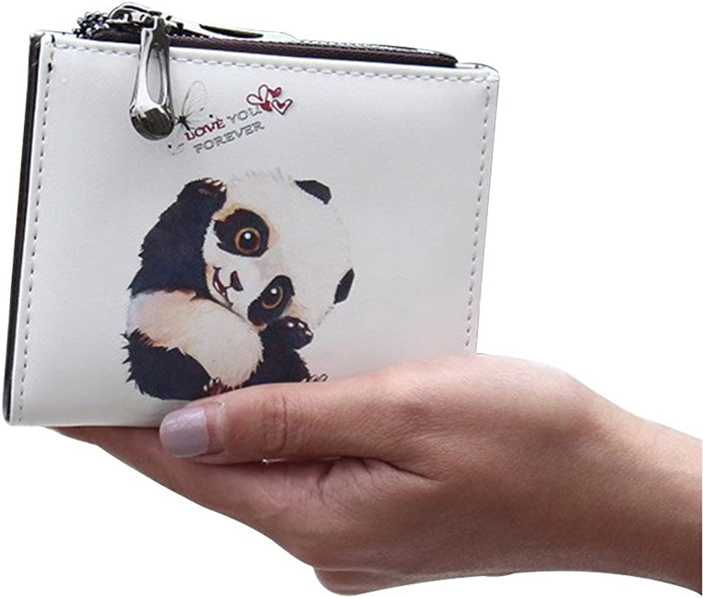 Dreambox Mujer Mini cartera cuero agradable diseño caricatura pequeño libreta de cheques bolsillo para monedas para regalo de niñas