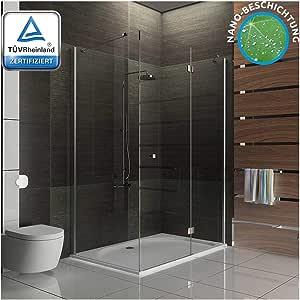 Esquina de cristal-ducha diseño de cabina de ducha incluido de cristal y revestimiento de cristal ducha mampara de 120 x 90 x 195: Amazon.es: Bricolaje y herramientas