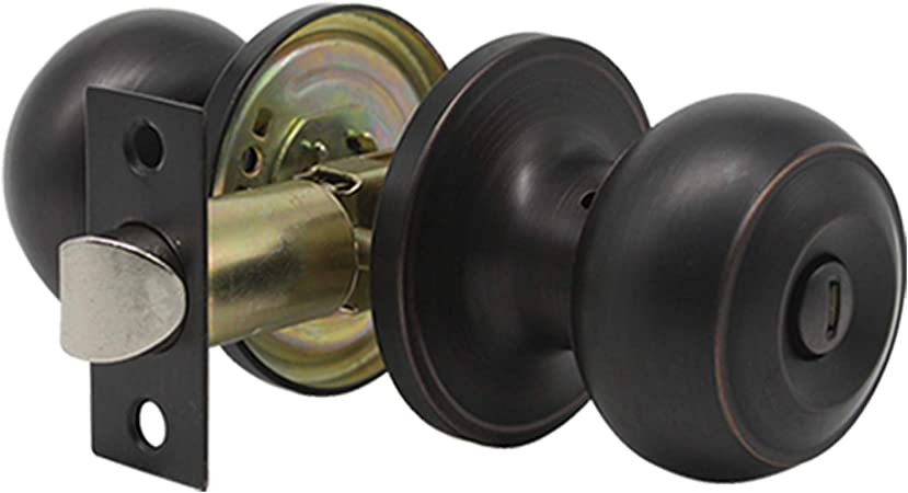 Gobrico Keyless Privacy Interior Door Knobs Bed//Bath Handles Oil Rubbed Bronze 10 Pack