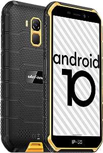 Ulefone Armor X7(2020) Android 10 Rugged Phones, 13MP + 5MP Waterproof Cameras, IP68 Smartphone, NFC, OTG, 4G Dual Sim, 5.0 Inch Screen, 2G RAM 16GB ROM, 4000mAh Battery, GPS, Bluetooth, WIFI - Orange