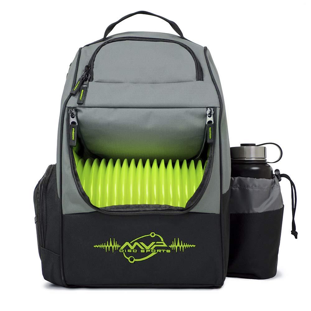 MVP Disc Sports Backback Shuttle Bag (Gray/Lime) by MVP Disc Sports