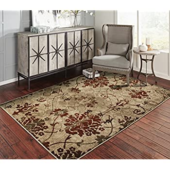 A.S Quality Rugs Modern Distressed Living Room Rugs 8x10 Dining Room 8x11  Burgundy Carpet Clearance Prime
