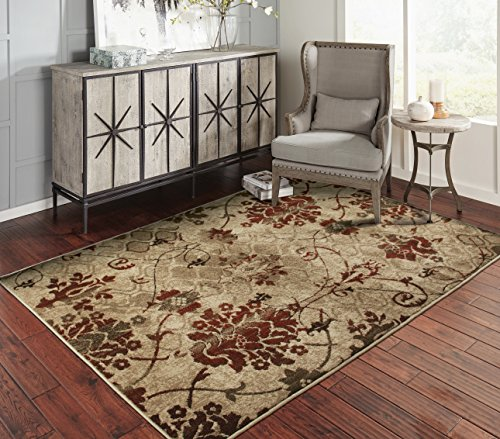 A.S Quality Rugs Modern Distressed Living Room Rugs 8×10 Dining Room 8×11 Burgundy Carpet Clearance Prime