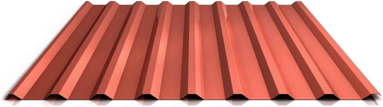 Profil PS20//1100TR Trapezblech Profilblech St/ärke 0,40 mm Beschichtung 25 /µm Material Stahl Dachblech Farbe Sepiabraun