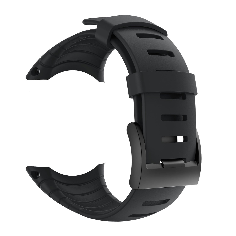Suunto Core Strap, Rubber Replacement Watch Band for Suunto Core SS014993000,Black