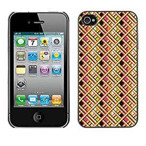 PatternViking PC Polycarbonate Aluminium Back Case Cover Apple iPhone 4 / 4S ( crisscross pattern ) by ruishername