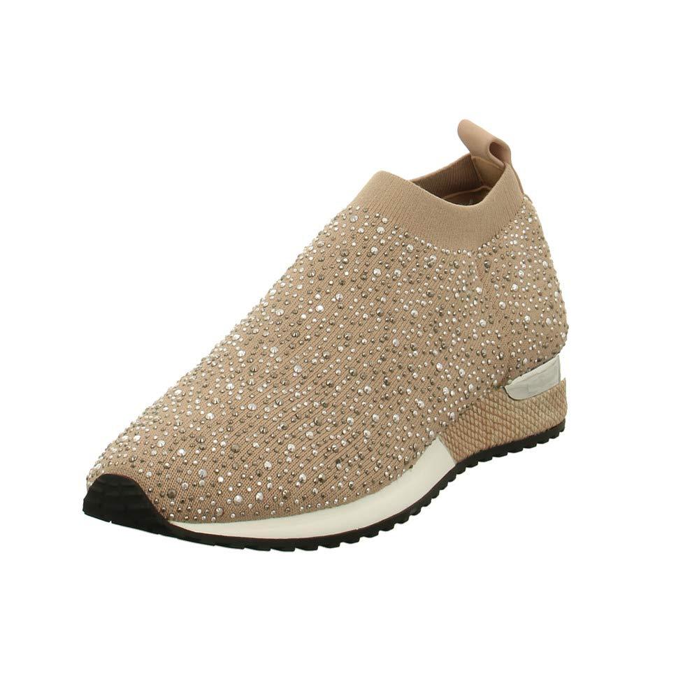 La Strada Damen Slipper Slipper mit funkelnden Besatz 1704773 beige 626682