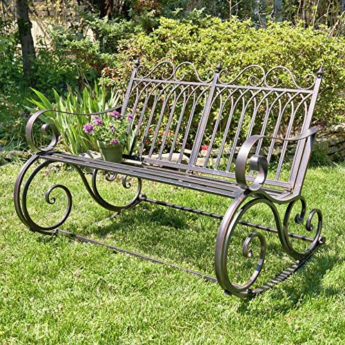Outdoor Metal Rocking Arm Chair/Bench Bench