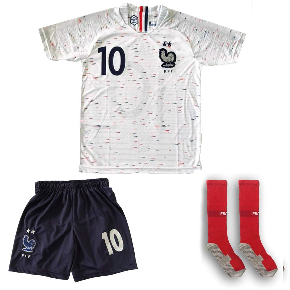 the best attitude 90450 9b449 France Mbappe Jersey #10 Away 18/19 - Football Kits Soccer Shirt For Kids  Boys Children Youth