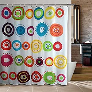 Amazon Riverbyland Shower Curtain Doodle Circles 72