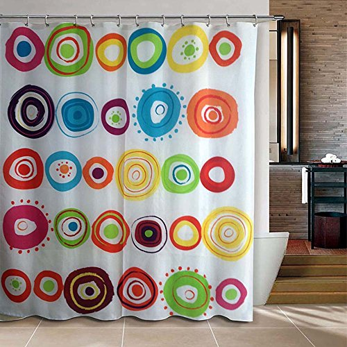 "Riverbyland Shower Curtain Doodle Circles 72"" x 80"""