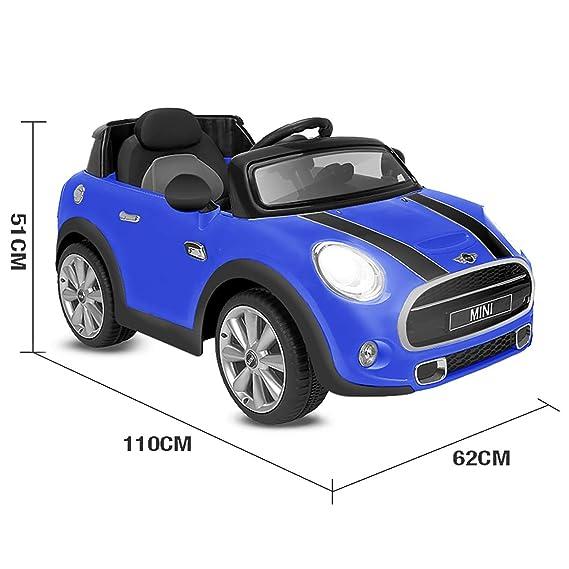 Playkin Coche Electrico Niños Mini Hatch, Color Azul: Amazon.es: Juguetes y juegos