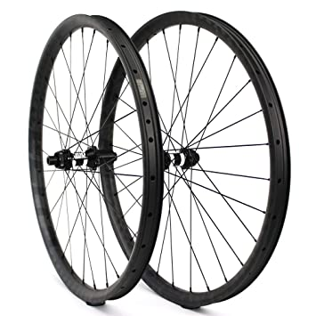 Yuanan DT 350 MTB Rueda 29er Cross Country Carbono Rueda 35 mm de Ancho Asimetric Rim para XC o Am Mountain Bike Tubeless Ready: Amazon.es: Deportes y aire ...
