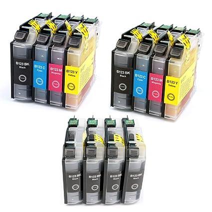 KATRIZ 12 piezas LC123 Cartuchos de tinta compatible para Brother ...