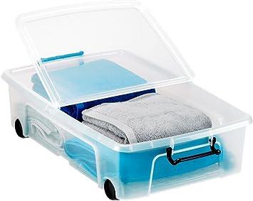 Caja de almacenaje Strata para guardar debajo de la cama, 35 litros: Amazon.es: Bricolaje y herramientas