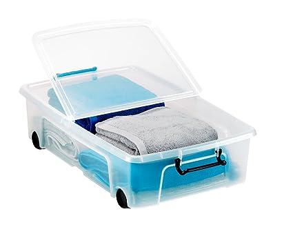 Caja de almacenaje Strata para guardar debajo de la cama, 35 litros