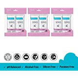 Freshca Refreshing Wet Wipes Single Sachet Men Women Hand Face Orchid Fragrance Paraben Silicon Alcohol Free 60 pcs