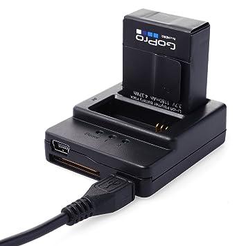 XCSOURCE® Nueva Calidad Negro Dual 2 Cargador de batería Universal USB 3 Puerto para Gopro Hero 3 3 + OS64