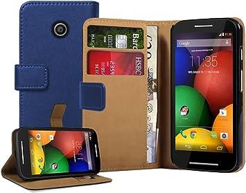 Membrane - Azul Cartera Funda Compatible con Motorola Moto E ...