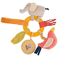 Moulin Roty Yellow Ring Rattle Les Papoum