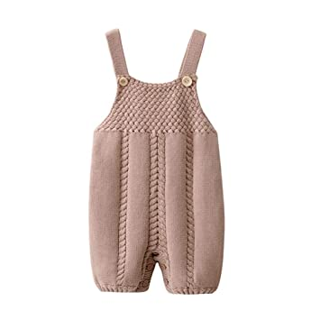 7785b01b4 Auro Mesa Infant Baby Knit Romper Overalls Cute Infant Clothing, Baby  Onesies Unisex,Baby