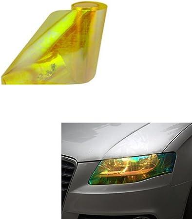 Aby 200cm X 30cm Scheinwerfer Folie Tönungsfolie Aufkleber Für Auto Scheinwerfer Rückleuchten Blinker Nebelscheinwerfer Gelb Auto
